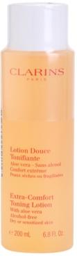 Clarins Cleansers tónico refrescante para pele seca a sensível