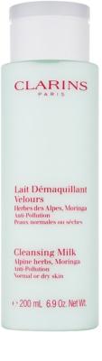 Clarins Cleansers Leite de limpeza com extrato de ervas alpinas para pele normal e seca