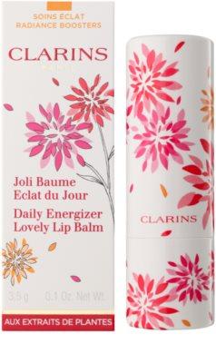 Clarins Daily Energizer odżywczy balsam do ust nawilżające i nadające blask 2