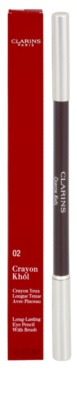 Clarins Eye Make-Up Crayon delineador de olhos com pincel 2