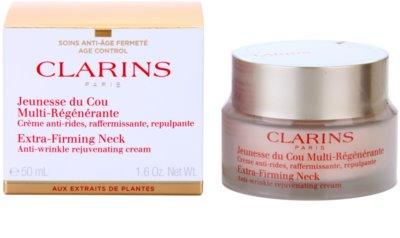 Clarins Extra-Firming creme antirrugas refirmante para pescoço e decote 1