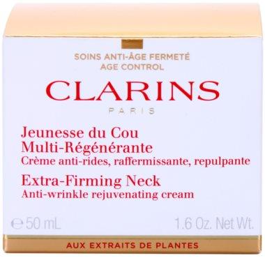 Clarins Extra-Firming zpevňující protivráskový krém na krk a dekolt 2