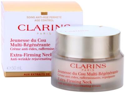 Clarins Extra-Firming creme antirrugas refirmante para pescoço e decote 3