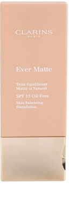 Clarins Face Make-Up Ever Matte podkład matujący minimalizujący pory SPF 15