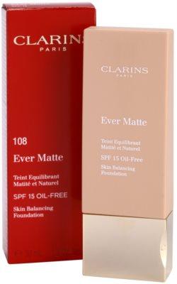 Clarins Face Make-Up Ever Matte maquilhagem matificante para redução de poros SPF 15 2