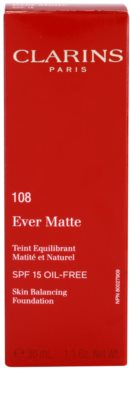 Clarins Face Make-Up Ever Matte матиращ фон дьо тен за минимизиране на порите SPF 15 3