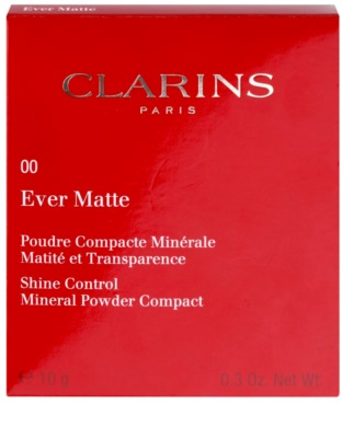 Clarins Face Make-Up Ever Matte pó compacto mineral para aspeto mate 3