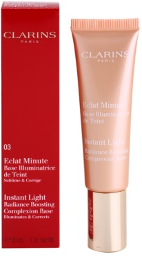Clarins Face Make-Up Instant Light élénkítő sminkalap a make - up alá 1