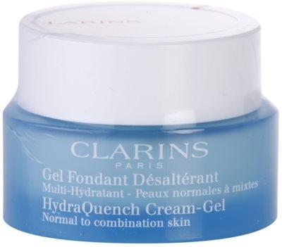 Clarins HydraQuench crema hidratante con textura de gel para pieles normales y mixtas