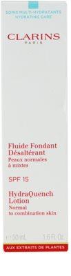 Clarins HydraQuench feuchtigkeitsspendende Pflege für normale und gemischte Haut SPF 15 2