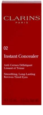 Clarins Face Make-Up Instant Concealer korektor o długotrwałym działaniu o działaniu wygładzającym 2