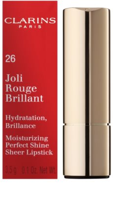 Clarins Lip Make-Up Joli Rouge Brilliant ruj hidratant lucios 3