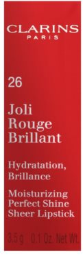 Clarins Lip Make-Up Joli Rouge Brilliant ruj hidratant lucios 4