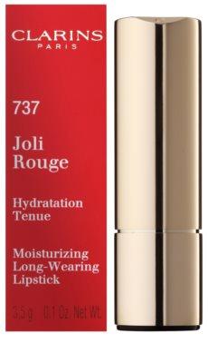 Clarins Lip Make-Up Joli Rouge dlouhotrvající rtěnka s hydratačním účinkem 2