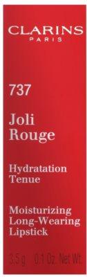 Clarins Lip Make-Up Joli Rouge dlouhotrvající rtěnka s hydratačním účinkem 3