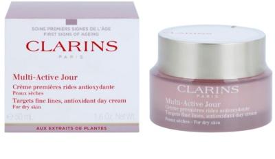 Clarins Multi-Active creme de dia antioxidante para pele seca 1