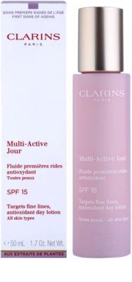 Clarins Multi-Active Ser pentru hidratare si protectie SPF 15 2