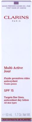 Clarins Multi-Active hidratante e protetor fluido SPF 15 3