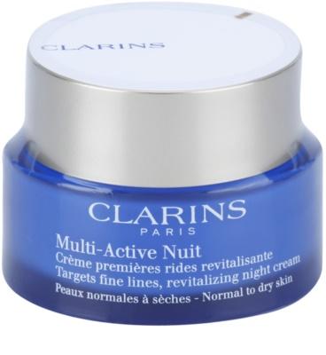 Clarins Multi-Active Crema de noapte revitalizanta pentru riduri fine. pentru piele normala si uscata