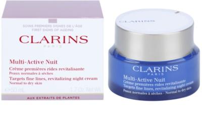 Clarins Multi-Active krem rewitalizujący na noc na drobne zmarszczki do cery normalnej i suchej 1