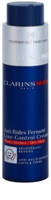 Clarins Men Age Control creme antirrugas para pele seca