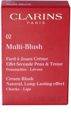 Clarins Face Make-Up Multi-Blush Creme-Rouge für Lippen und Wangen 2