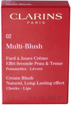 Clarins Face Make-Up Multi-Blush blush cremos buze si obraz 2