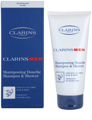 Clarins Men Wash frissítő sampon testre és hajra 1