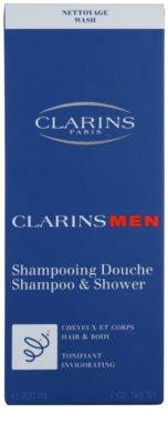 Clarins Men Wash frissítő sampon testre és hajra 2