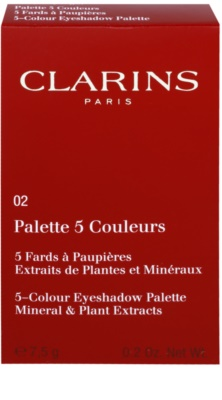 Clarins Eye Make-Up 5 Colour Eyeshadow Palette paleta de sombra de olhos 5 cores 2