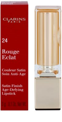 Clarins Lip Make-Up Rouge Eclat поживна помада 2