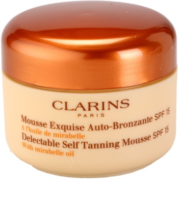 Clarins Sun Self-Tanners önbarnító hab arcra és testre SPF 15