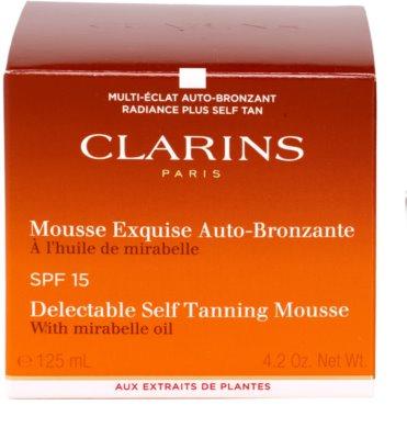 Clarins Sun Self-Tanners samoopalovací pěna na obličej a tělo SPF 15 3