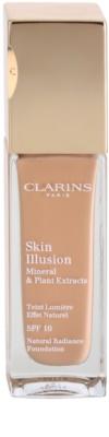 Clarins Face Make-Up Skin Illusion podkład rozświetlający dający naturalny efekt SPF 10