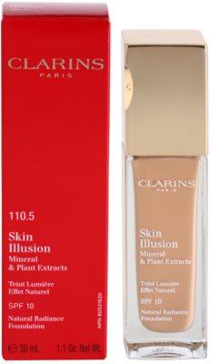 Clarins Face Make-Up Skin Illusion rozjasňující make-up pro přirozený vzhled SPF 10 1
