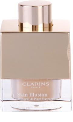 Clarins Face Make-Up Skin Illusion maquiagem em pó para uma aparência natural com pincel