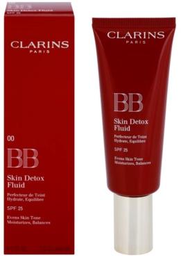 Clarins Face Make-Up BB Skin Detox Fluid BB creme com efeito hidratante SPF 25 1