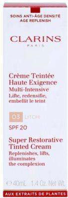 Clarins Super Restorative crema con color regeneradora antiarrugas SPF 20 2