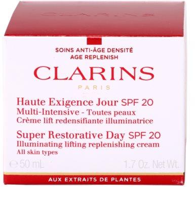 Clarins Super Restorative Lifting-Tagescreme gegen Falten für alle Hauttypen SPF 20 2