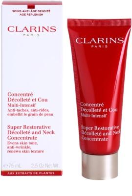 Clarins Super Restorative розгладжуючий та зміцнюючий догляд для шиї та декольте 1