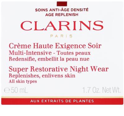 Clarins Super Restorative éjszakai revitalizáló krém minden bőrtípusra 2
