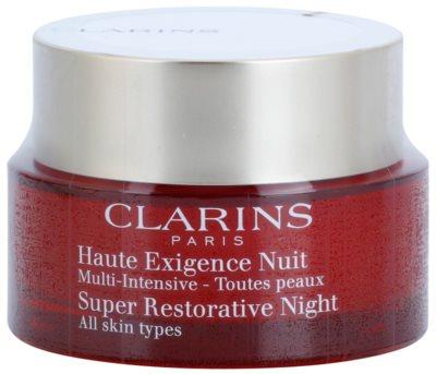 Clarins Super Restorative нічний крем проти всіх ознак старіння для всіх типів шкіри