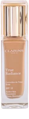 Clarins Face Make-Up True Radiance maquilhagem iluminadora hidratante para um look perfeito SPF 15
