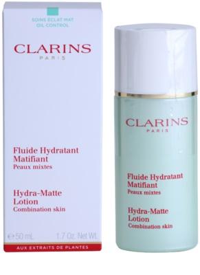 Clarins Truly Matte fluido calmante e hidratante contra brilho de rosto i poro dilatados 1