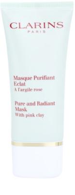 Clarins Truly Matte globoko čistilna maska za zmanjšanje por in mat videz kože