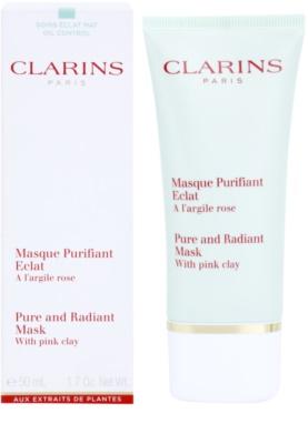 Clarins Truly Matte дълбоко почистваща маска за стягане на порите и матов ефект 1