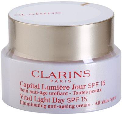 Clarins Vital Light odmładzający krem na dzień do każdego rodzaju skóry SPF 15
