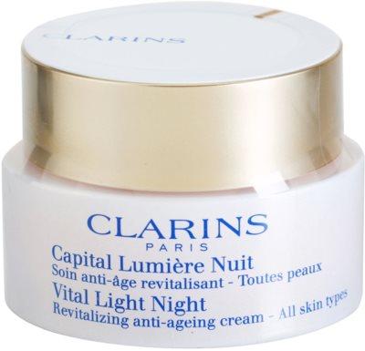 Clarins Vital Light crema de noapte revitalizanta  pentru toate tipurile de ten