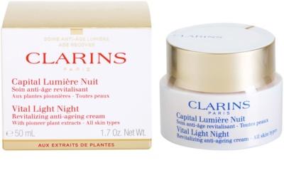 Clarins Vital Light crema de noapte revitalizanta  pentru toate tipurile de ten 3