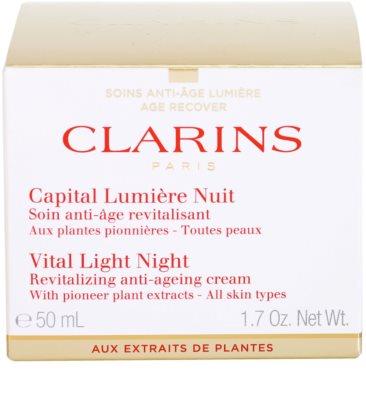 Clarins Vital Light crema de noapte revitalizanta  pentru toate tipurile de ten 2